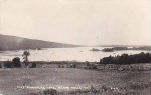 Maine Island Falls Mattawamkeag Lake 1939 Real Photo RPPC