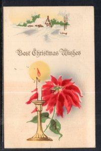 Christmas Wishes Poinsettia Candle