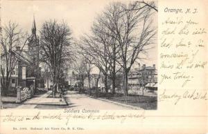 Orange New Jersey Soldiers Common Street View Antique Postcard K49361