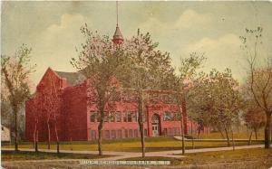 Milbank South Dakota~Belltower Over Spring Trees~High School~1910 Postcard