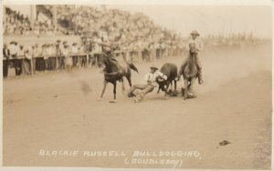 RP: RODEO ; Blackie Russell Bulldogging , 00-10s (Doubleday)