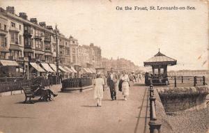 St Leonards on Sea on the front 1925 Postcard