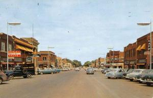 Brookings South Dakota Main Street Scene Historic Bldgs Vintage Postcard K93672