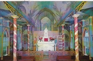 Hawaii Kona Honaunau St Benedict's Catholic Church Interior