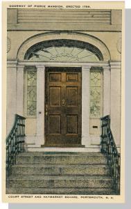 Portsmouth, New Hampshire/NH Postcard, Doorway, Pierce Mansion, Court Street
