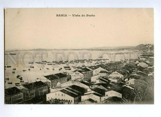 144684 BRAZIL BRASIL BAHIA Vista do Porto Vintage postcard
