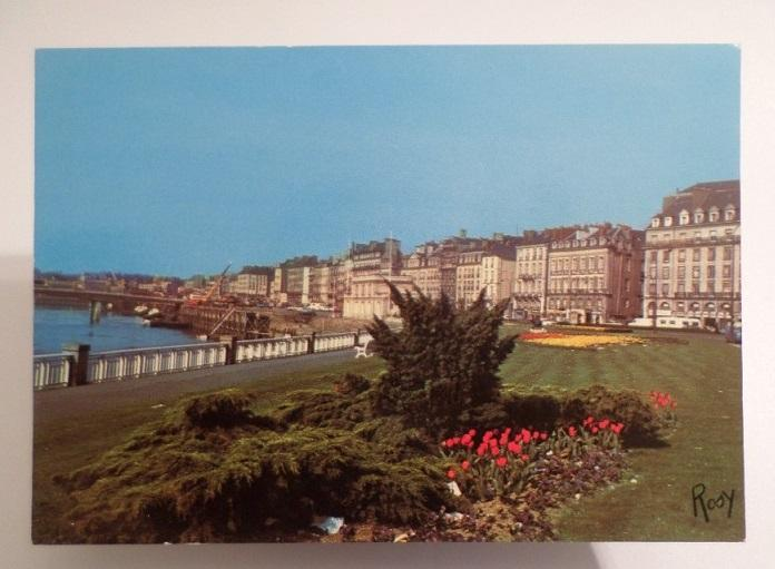CARTE POSTALE POSTCARD FRANCE NANTES PARTIAL VIEW 1970 YEARS
