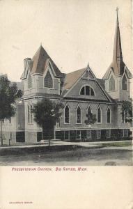 BIG RAPIDS, Michigan  MI   PRESBYTERIAN CHURCH  1900s   UDB   Postcard