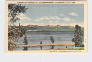 VINTAGE POSTCARD NATIONAL STATE PARK YELLOWSTONE LAKE AND ABSAROKA RANGE #2