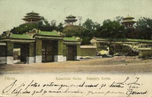 china, PEKING PEIPING, Emperor's Garden (1905) C.H. No 40 Postcard