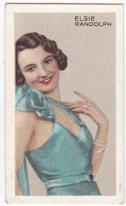Cigarette Cards Park Drive STARS OF SCREEN & STAGE No18 Elsie Randolph