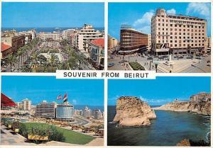 Lebanon Beirut Martyrs Square Riad Solh Square Raousheh Cars Auto Flags