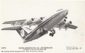 British Aerospace BAE 146-100 Dan Air Plane Postcard