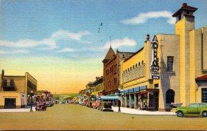 New Mexico Las Vegas Douglas Avenue Looking West 1944 Curteich