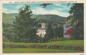 Georgia Clayton Rabun County Court House Black Rock Mountain In Background