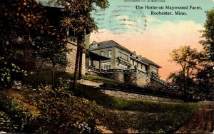 Minnesota Rochester The Home On Mayowood Farm 1913