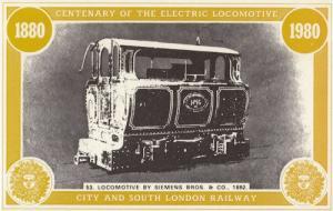 Siemens Bros & Co Victorian City & South London Railway Postcard