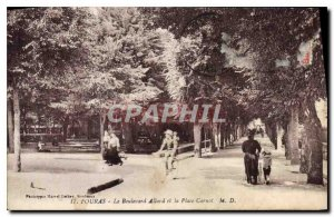 Old Postcard Fouras Boulevard Allard and Place Carnot