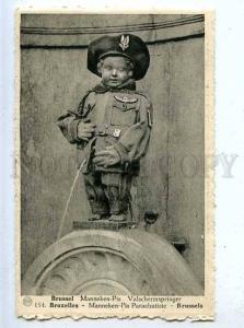 185718 Brussels MANNEKEN PIS Dressed PARACHUTISTE Vintage PC