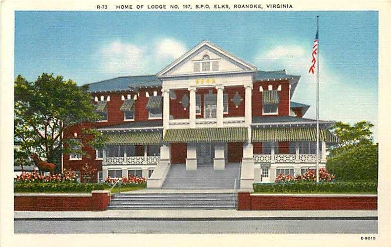 VA, Roanoke, Virginia, B.P.O. Elks, Lodge Number 197, Ashville No. E-9010