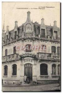 Old Postcard Bank Caisse d & # 39Epargne Vaucouleurs