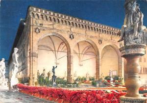 Firenze Italy Postcard Signoria Loggia Firenze