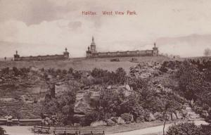 Halifax West View Park Antique Aerial Postcard