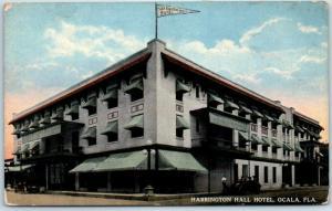 Ocala, Florida Postcard HARRINGTON HALL HOTEL Street View c1910s UNUSED