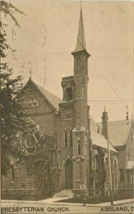 Ashland Ohio 1910 Presbyterian Church RPPC Real photo postcard 2441