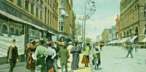 Postcard  1905 Hand Tinted View of Main Street in Hartford, CT.     T8