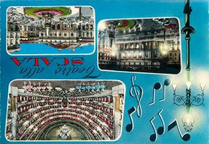 Postcard Italy  Milan La Scala Theatre