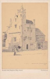 AS: Grammar Hall, Magdalen College, Oxford, Oxfordshire, England, United King...