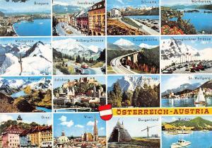 Osterreich multiviews Bregenz Innsbruck Silvretta Wien Graz Zugspitze Salzburg