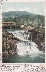 Covered Bridge at Goodrich Falls - Jackson NH, New Hampshire - pm 1906 - UDB