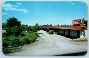 Postcard ID Coeur d'Alene Hacienda Motel Vintage G23
