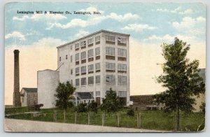 Lexington Nebraska~Lexington Mill & Elevator Co~Smoke Stack~c1910