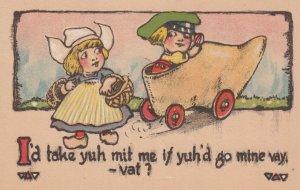 Dutch kids , wooden shoe automobile , 00-10s