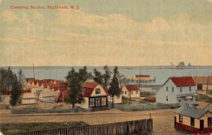 Highlands New Jersey Camping Section Birds Eye View Vintage Postcard JA4741236