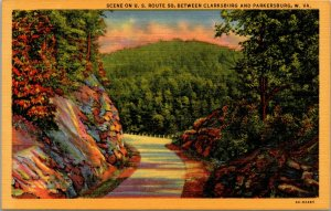 Lot of 3 : West Virginia WVA Linen Hotel Dam UNUSED unposted Postcard