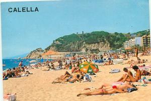 Old Vintage Postcards Calella beach Spain # 2249A