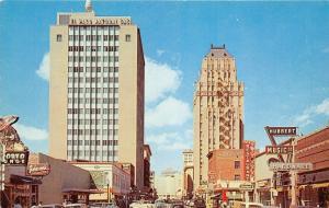 El Paso TX~Texas Street West~Hubbert Music Co~Johnson's~Restaurant~Whirlpool~50s