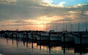 Delaware Rehoboth Beach Sunset At Indian River Yacht Basin 1970