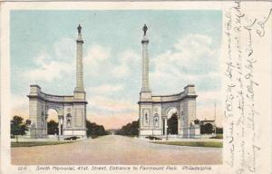 Pennsylvania Philadelphia Smith Memorial 41st Street Entrance To Fairmount Pa...