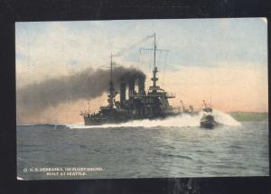 UNITED STATES NAVY BATTLESHIP USS NEBRASKA PUGET SOUND WASHINGTON POSTCARD