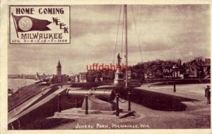 M PENNANT HOMECOMING WEEK MILWAUKEE, WI AUG 3-4-5-6-7 1909 JUNEAU PARK