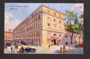 Artist View Hotel D'Inghilterra Rome Italy Postcard Carte Postale Roma