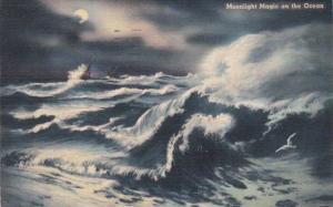 Moonlight Magic On The Ocean 1941