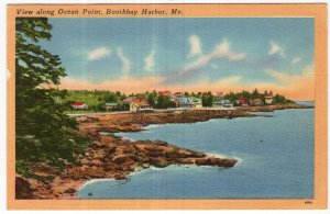 Boothbay Harbor, Me, View along Ocean Point