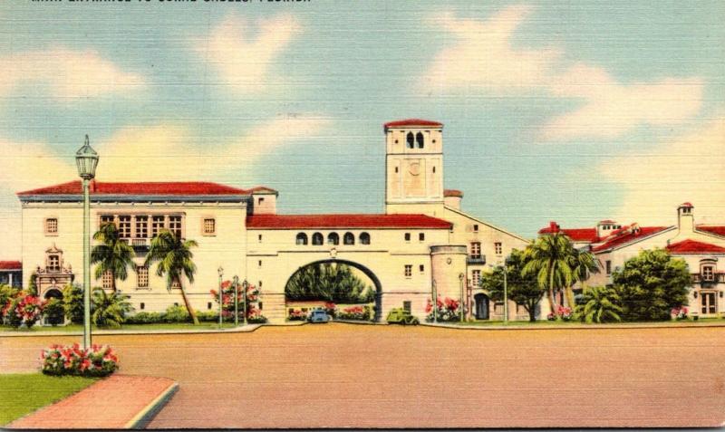 Florida Miami Coral Gables Main Entrance 1944
