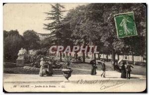 Niort Old Postcard Garden Breche